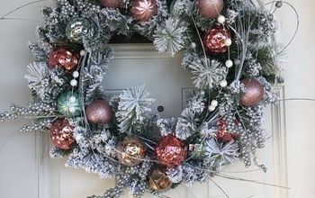 easy flocked christmas ornament wreath, See how easy that was