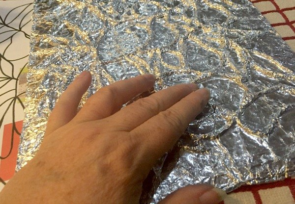 how to emboss with aluminum foil