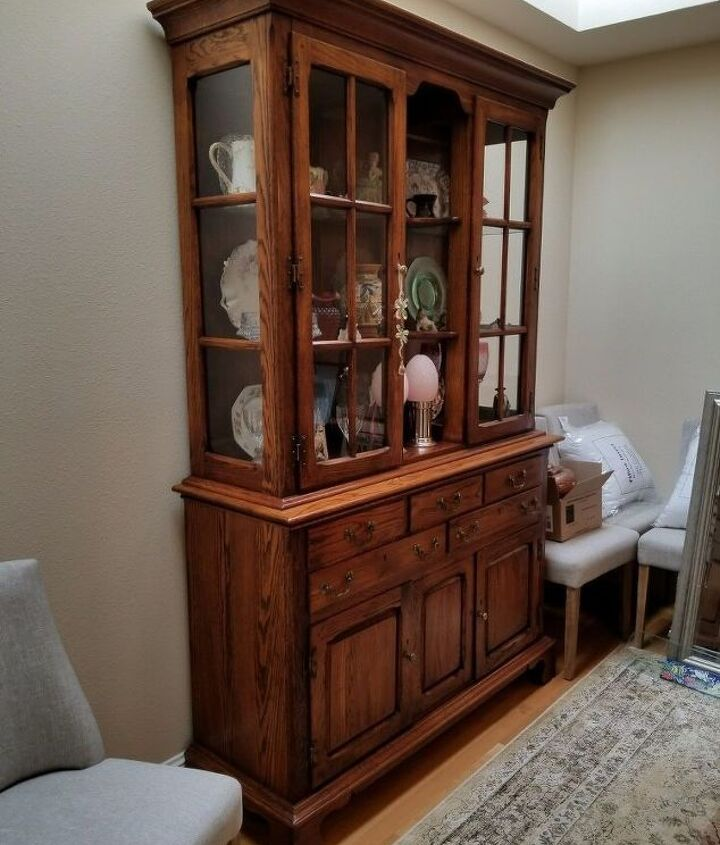 70 s brown hutch timeless update