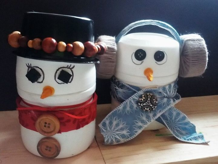 snowman decoration candy holder for christmas