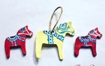 Easy Swedish Dala Horse Gift Tag Ornaments or Embellishments