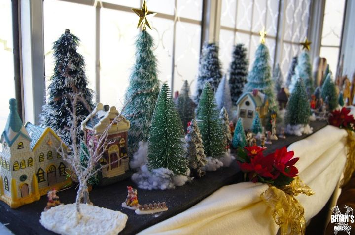 landscaping your christmas village for cheap