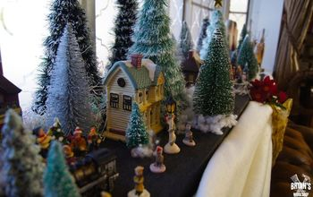 Landscaping Your Christmas Village for Cheap!