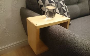 Sofa Arm Table From Old Shelves