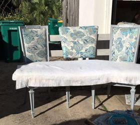 Elegant Dining Banquette Bench From Thrift Store Chairs