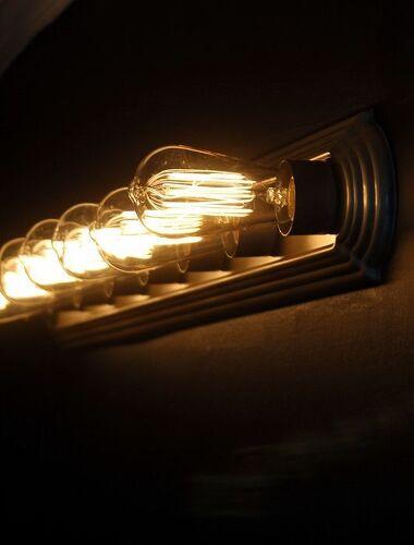 How can I update a builder grade 6 light basic vanity light? | Hometalk