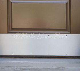 Beau What About A Metal Or Brass Toe Kick Plate At The Bottom Of The Door?