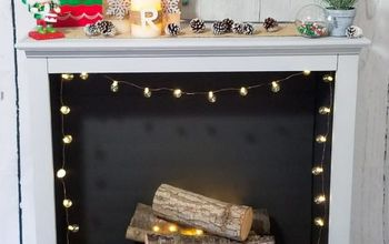 turn an old bookshelf into a gorgeous faux fireplace