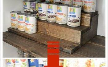 diy can food organizer with hidden storage underneath