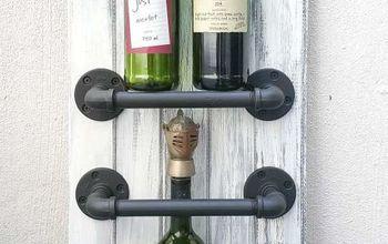 an easy diy industrial chic wine rack