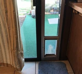 Q How To Cover A Doggy Door Panel Attached Draped Patio Door