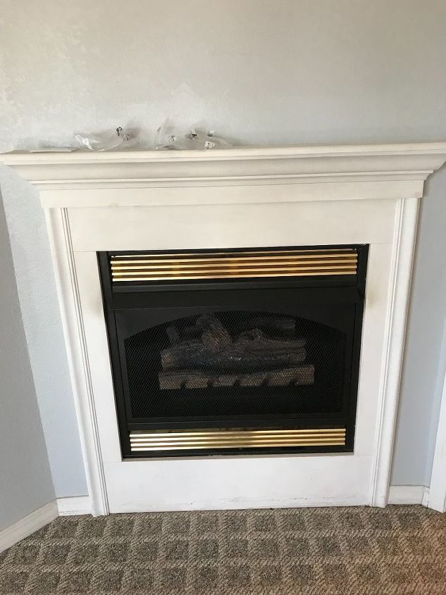 q design ideas for gas fireplace and wall
