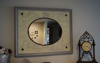 Re-purposing a Oval Mirror and Old Frame to an Antique Mirror