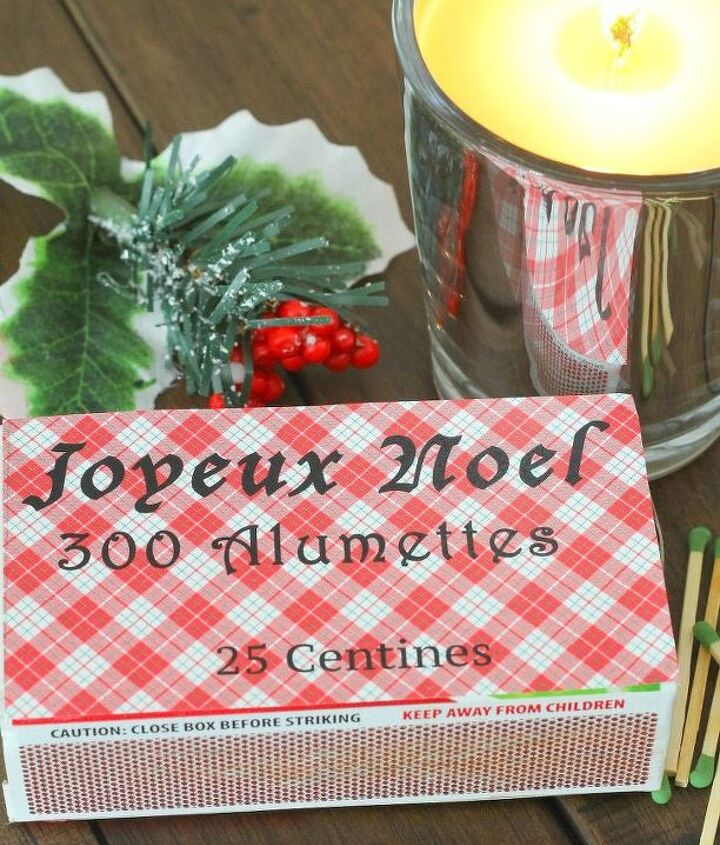 diy french christmas matches