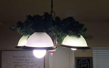 Chandelier/Light Fixture Wreath