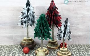 ribbon rustic christmas trees