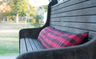 easy no sew diy bench pillow from a table runner