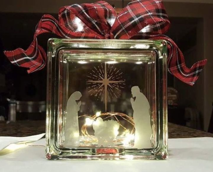 Glass Etching An Ornament And Glass Block Hometalk