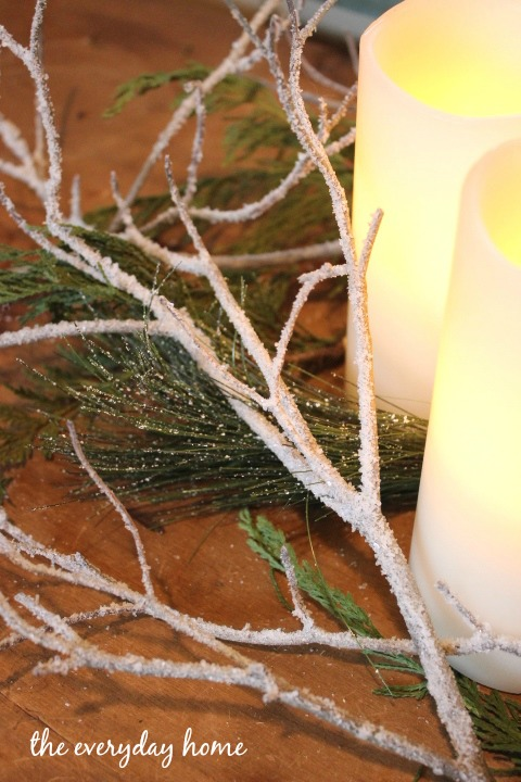 s make your home a winter wonderland with these stunning ideas, Sparkling Iced Winter Branches