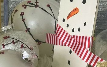 super simple snowman tree decor make this with friends