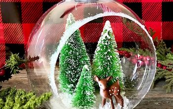 Handmade Christmas Ornament - Bottle Brush Tree Diorama