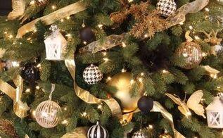 decorating an elegant and beautiful christmas tree