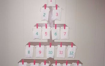 last minute diy advent calendar tree