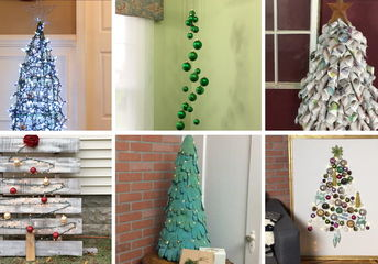 6 unconventional christmas tree ideas