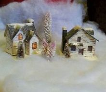 christmas village greenery from your garden