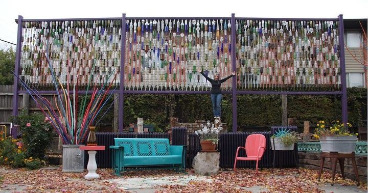 q i want to make a bottle wall outside