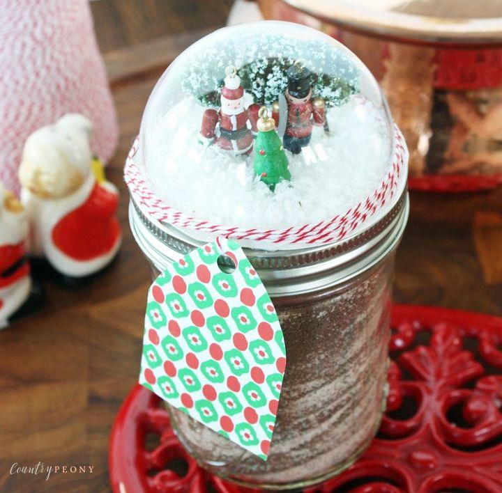 diy mason jar christmas snow globe