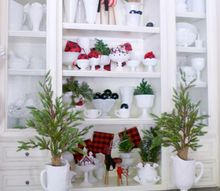 milk glass christmas decor