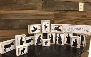 Wooden Nativity Scene Blocks