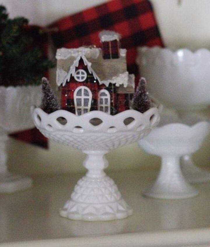 milk glass christmas decor