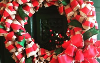 diy custom christmas ribbon wreath tutorial