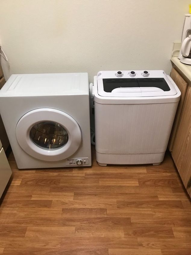 q i just want a shelf over this washer on the