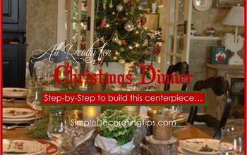 step by step christmas centerpiece