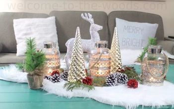 Holiday Decor Centerpiece and Painted Pinecones Tutorial