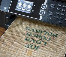 printing on burlap for christmas printable