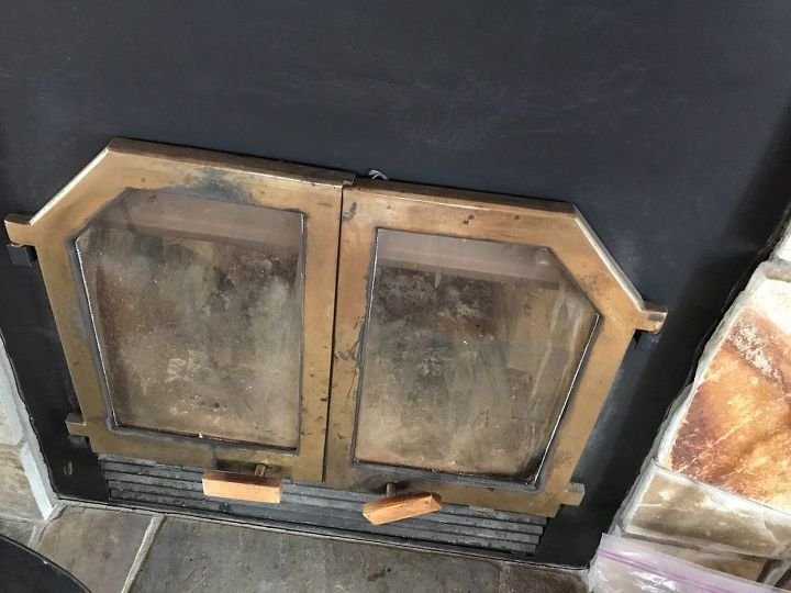 q how do you clean brass doors of a fireplace