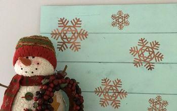Rustic Cedar Snowflake Sign