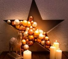 easy bauble and light filled star