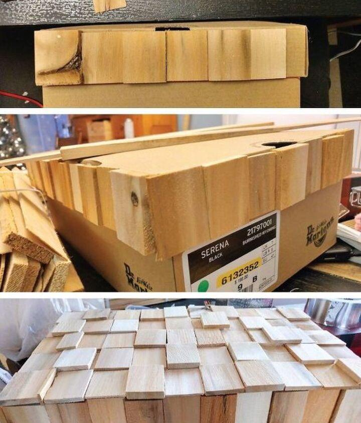 cardboard shoe box becomes a high end playstation storage box