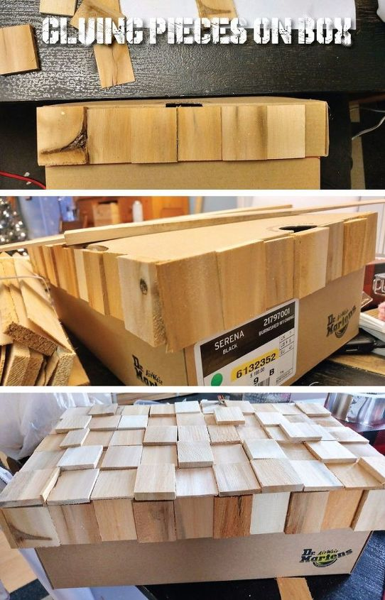 cardboard shoe box becomes a high end playstation storage box