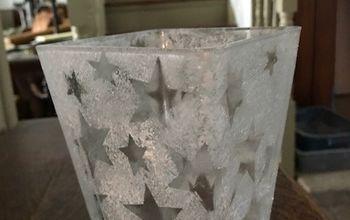 Inexpensive (Free) Vase, Bottle or Glass Christmas Decor