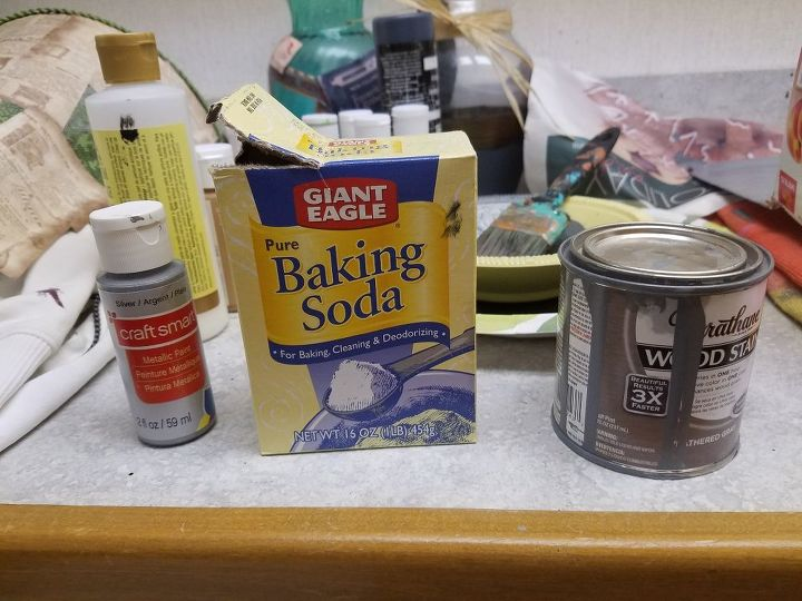 cardboard food box makeover to solve counter top clutter