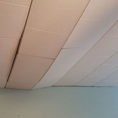 Is it possible to repair our sagging ceiling tiles and if so how