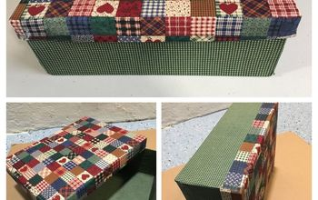 country fabric box
