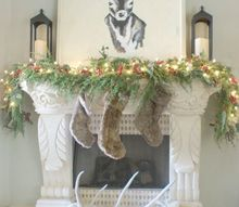 christmas fireplace mantel decor tour