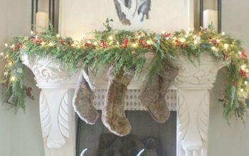 christmas fireplace mantel decor tour